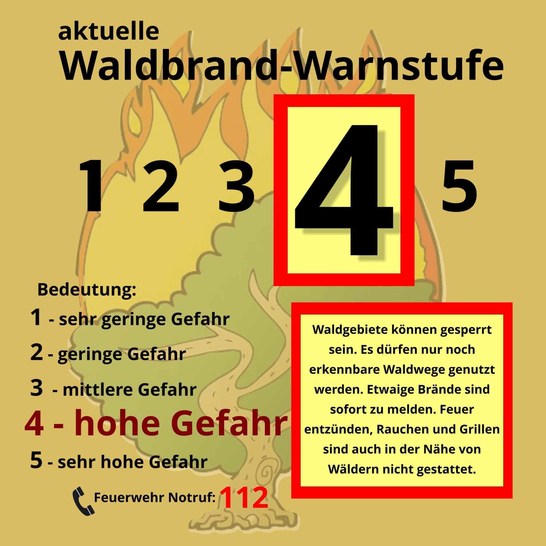 Waldbrand-Warnstufe-4