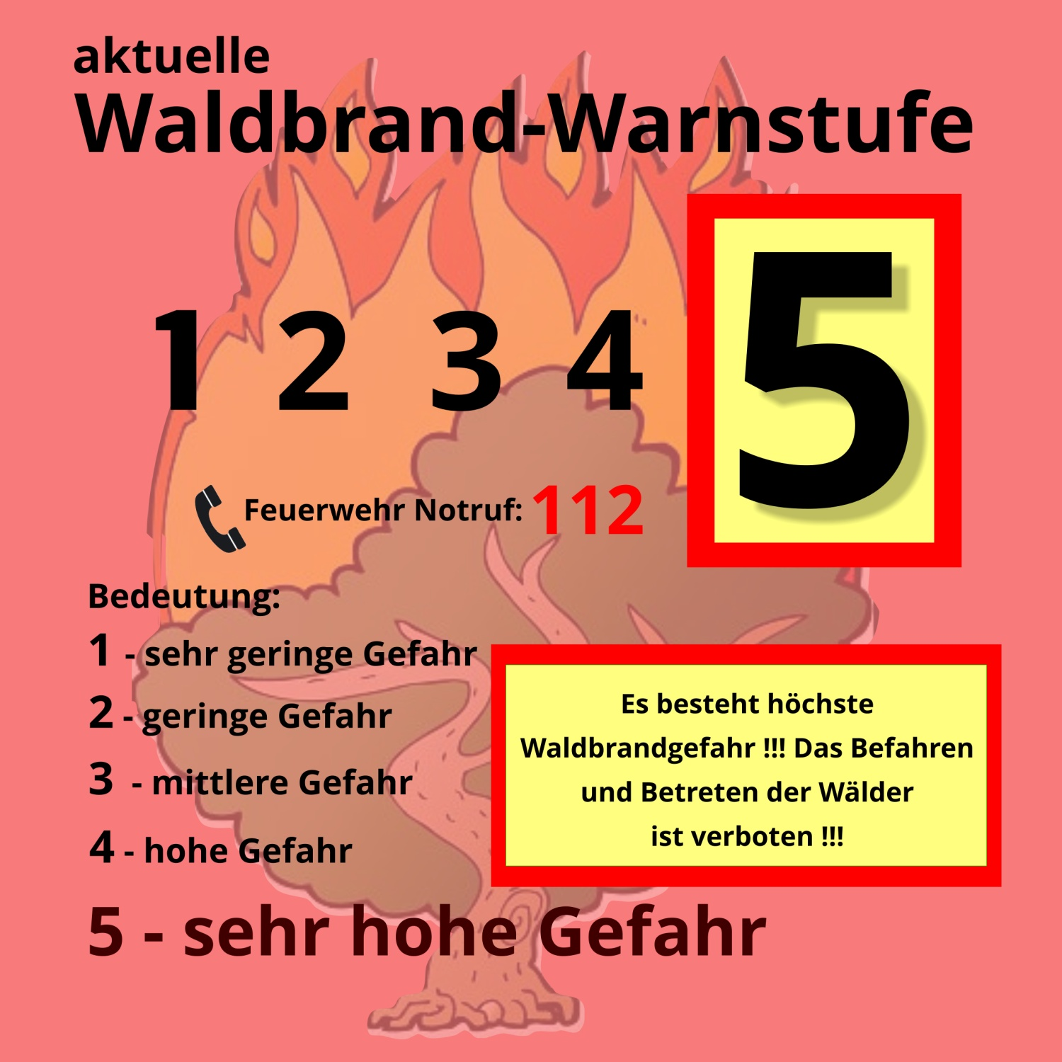 Waldbrand-Warnstufe-5