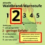 Waldbrand-Warnstufe-2
