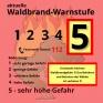 Waldbrand-Warnstufe-5