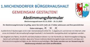 Facebook Bürgerhaushalt Michendorf